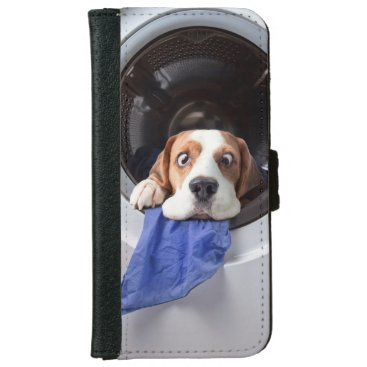 Funny dizzy beagle delicate washing iPhone 6/6s wallet case