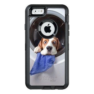 Funny dizzy beagle delicate washing OtterBox defender iPhone case