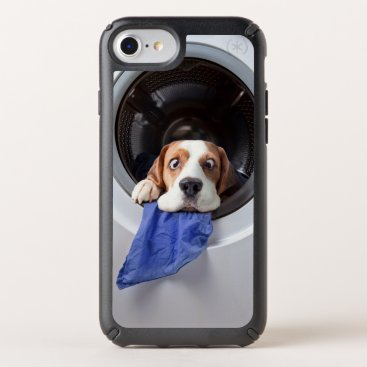 Funny dizzy beagle delicate washing speck iPhone case