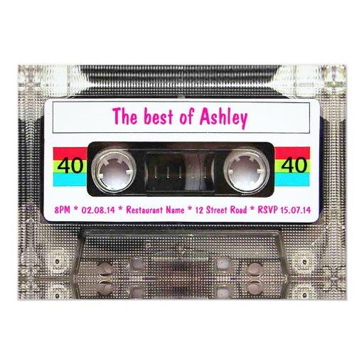 funny dj 80s cassette tape 40th birthday card zazzle