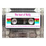 Funny DJ 80s Cassette Tape 40th Birthday custom Card