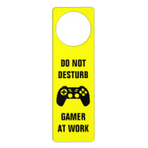 Funny do not disturb door hanger for gaming gamer