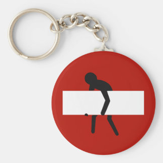 Funny do not enter road sign keychain