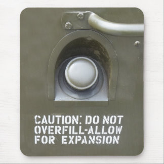 Funny Do Not Over Fill Warning Mouse Pad