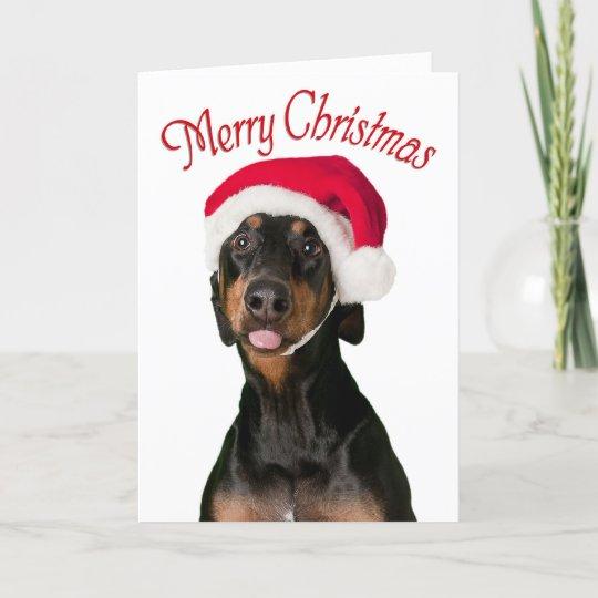 Dog Christmas Cards.Funny Doberman Dog Christmas Cards