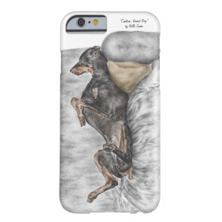 Funny Doberman on Sofa Barely There iPhone 6 Case