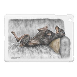 Funny Doberman on Sofa iPad Mini Cover
