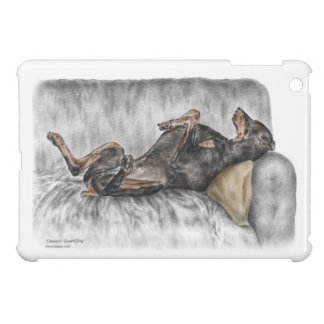 Funny Doberman on Sofa iPad Mini Covers