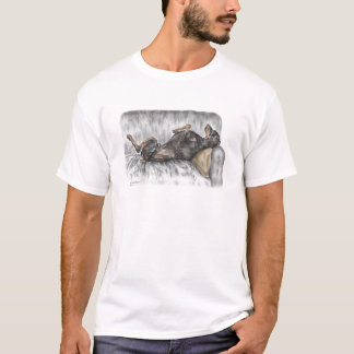 Funny Doberman on Sofa T-Shirt