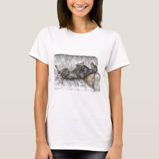 Funny Doberman on Sofa T-Shirt