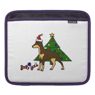 Funny Doberman Pinscher Dog Christmas Art Sleeve For iPads