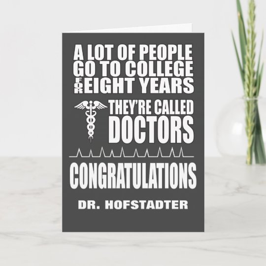 Funny doctor graduation greeting card zazzle funny doctor graduation greeting card m4hsunfo