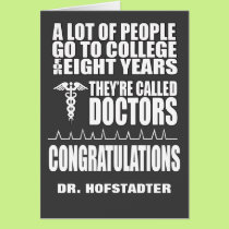Funny Doctor Graduation Greeting Card