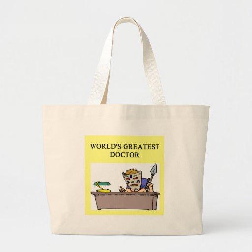 Funny doctor joke! jumbo tote bag