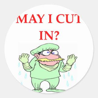 funny doctor joke round stickers