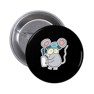 funny doctor mouse 2 inch round button