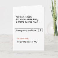 Funny Doctor Thank You Emergency Medicine Card