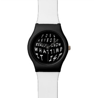 Funny Does Anybody Really Know what Time it is Wristwatch