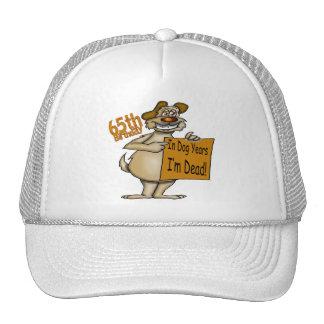 Funny Dog 65th Birthday Gifts Mesh Hat