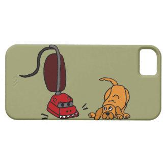Funny Dog Afraid of Vacuum Cleaner iPhone SE/5/5s Case