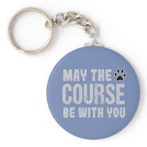 Funny Dog Agility Rally Training Keychain Gift