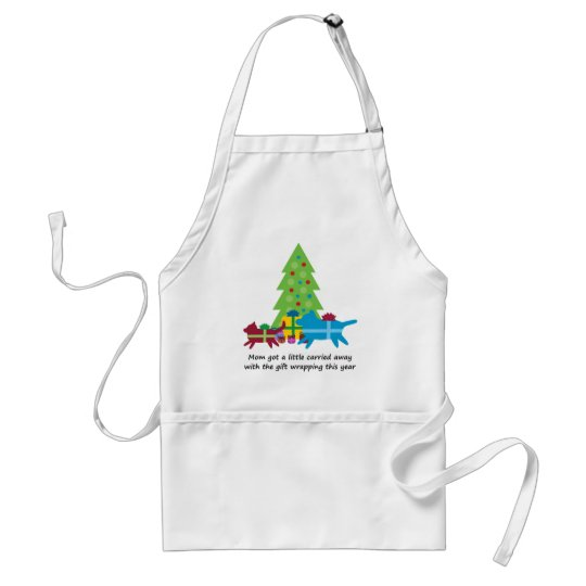 Funny Dog  and Cat Christmas Presents Adult Apron