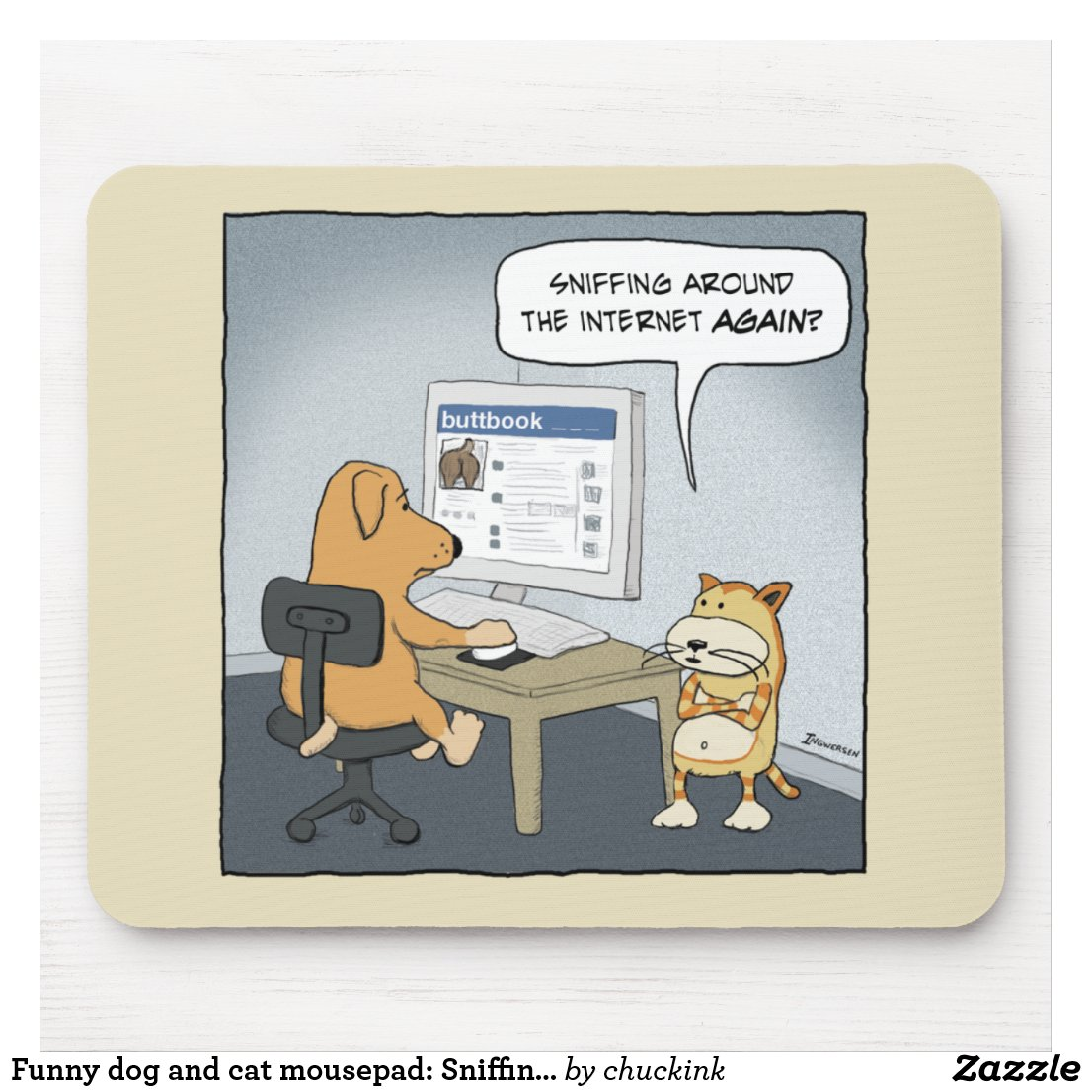 funny_dog_and_cat_mousepad_sniffing_arou