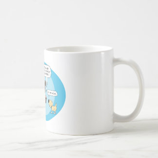 Funny Dog and Cow Tired of Chewing Cud Classic White Coffee Mug