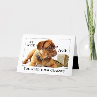 Funny Dog Beer Birthday Greeting Card