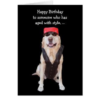 Funny Dog Biker Card