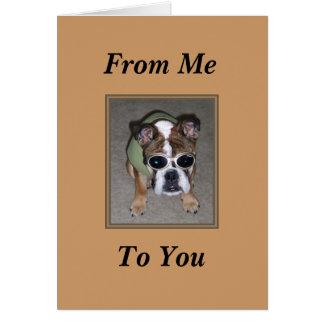 Funny Dog Birthday Card Card