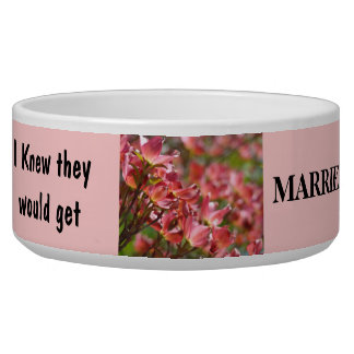 Funny Dog Bowl Wedding Knew they Would Married