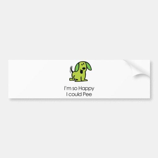 Funny Dog Bumper Sticker