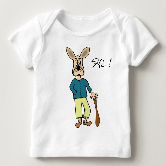 "funny dog ""carton"" baby's t-shirt"