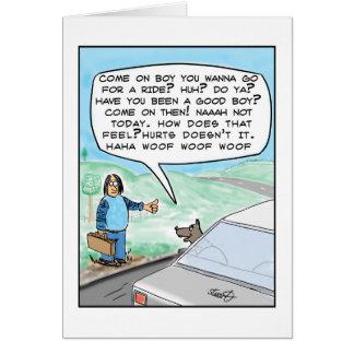 funny dog cartoon card
