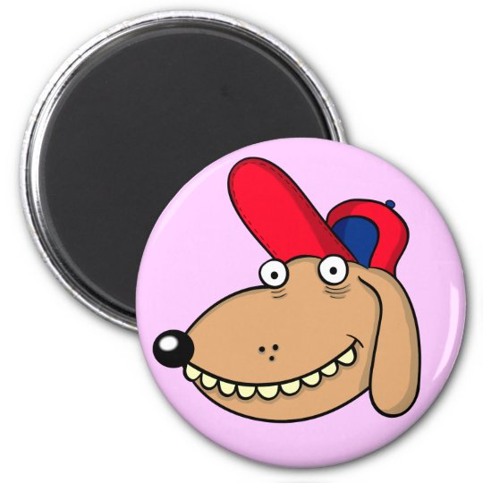"funny dog ""cartoon "" magnet"