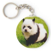 Funny dog - chow chow- Pandog Keychain