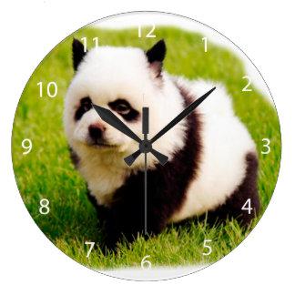 Funny dog - chow chow- Pandog Large Clock
