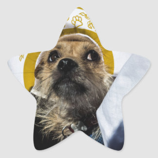 Funny Dog Costume Gifts Star Sticker