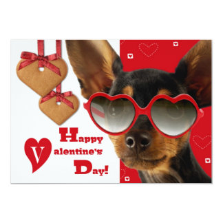 Funny Dog Customizable Valentine's Day Cards