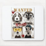 Funny dog gang poster art mouse pads