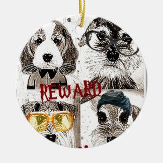 Funny dog gang poster art christmas ornaments