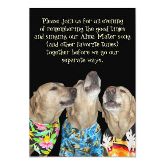 funny dog graduation party invitation - Funny Graduation Invitations