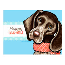 Funny Dog Happy Howlidays Postcard