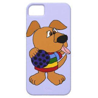 Funny Dog in Colorful Sweater iPhone 5 Cases
