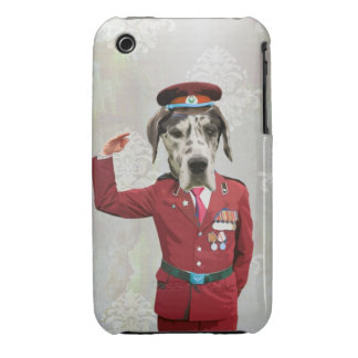 Funny dog in red uniform iPhone 3 cover