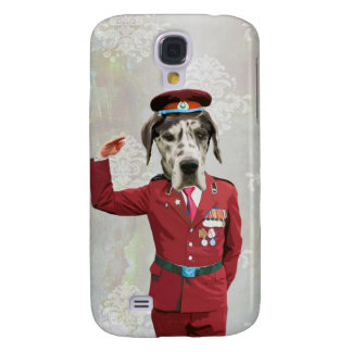 Funny dog in red uniform samsung galaxy s4 cover