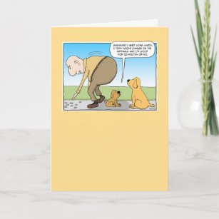 Funny Dog In Shade Birthday Card