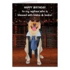 Funny Dog/Lab Birthday for Nephew Card