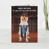 Funny Dog/Lab Birthday for Son or Nephew Card
